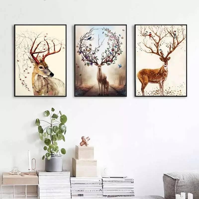 沙发后适合挂哪些画?